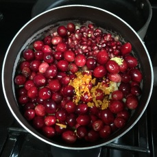 cranberry sauce mise en place