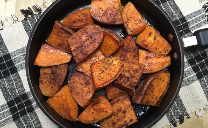 Pan Roasted SweetPotatoes