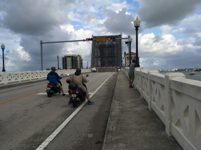 Heading back to Miami beach and had to wait for the drawbridge