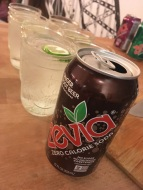 Ginger Root Beer Zevia with Vodka